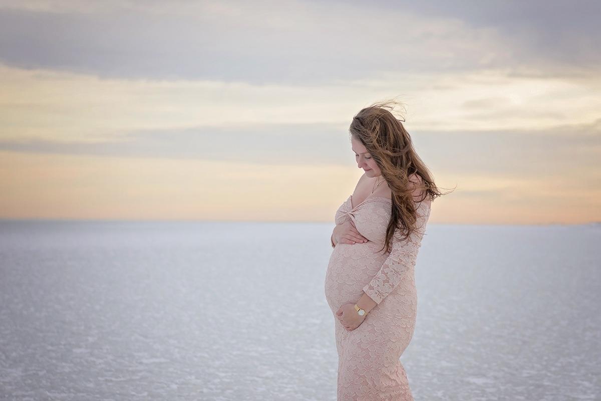 Zwangerschapsshoot in de winter